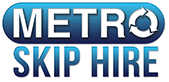 The Metro Skip Bin Hire logo.